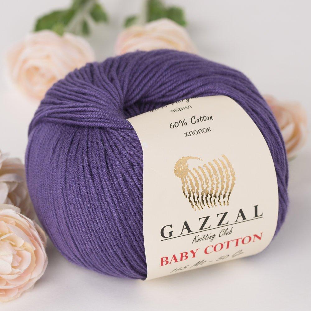 50g Fine Baby Yarn Gazzal Baby Cotton 1.76 Oz 165m Soft // 150 Yrds White - 3410 60/% Cotton
