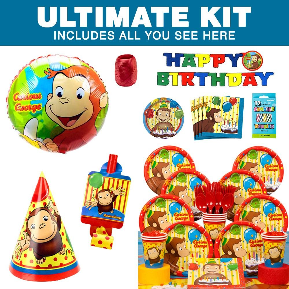 Amazon.com Costume Supercenter BB010941 Curious George Party Ultimate Kit Serves 8 Guests Toys \u0026 Games  sc 1 st  Amazon.com & Amazon.com: Costume Supercenter BB010941 Curious George Party ...