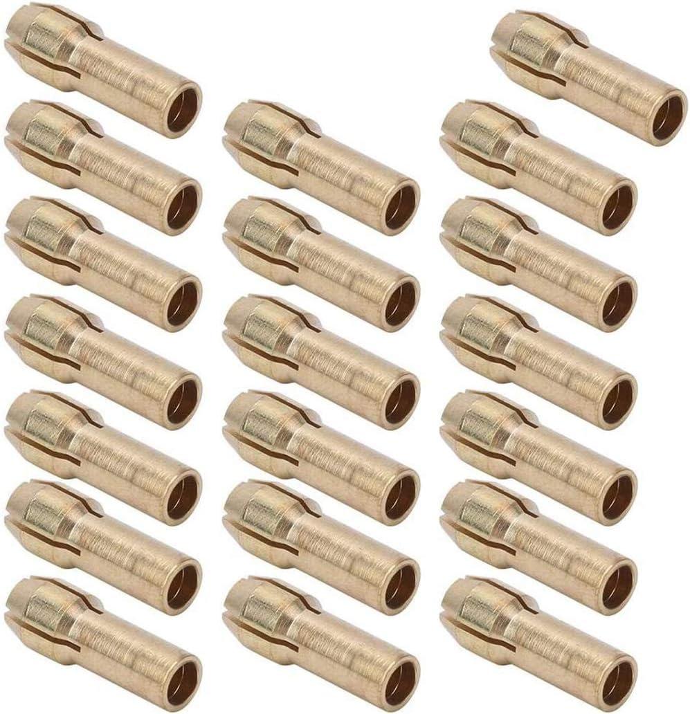10 Pcs En Laiton Perceuse Mandrin Pr/écision 0.5-3.2mm En Laiton Pince De Serrage Mandrin Convient Dremel Outils Rotatifs Recueillir Mandrin Titulaire /Électrique Meulage Perceuse