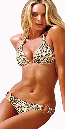 1357d18263 Hot Sexy 2PCS NEW Lady Women Girls Padded Animal Print Leopard With Diamond  Push up Padded Low Rise Beach Bikini ...