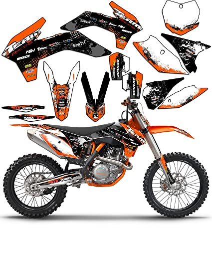 Team Racing Graphics kit for 2002-2008 KTM SX 65, SCATTER