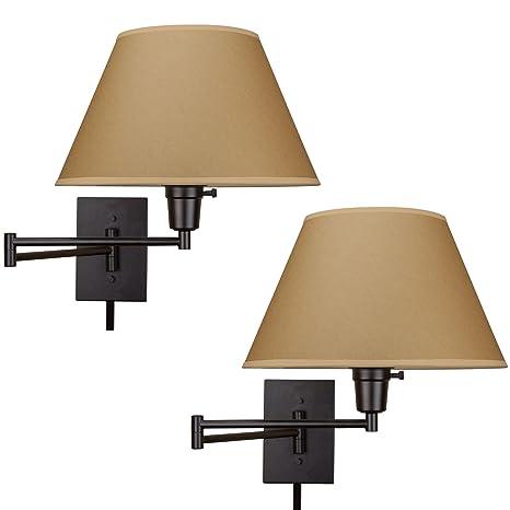 Kira Home Cambridge 13 Swing Arm Wall Lamp Plug Inwall Mount