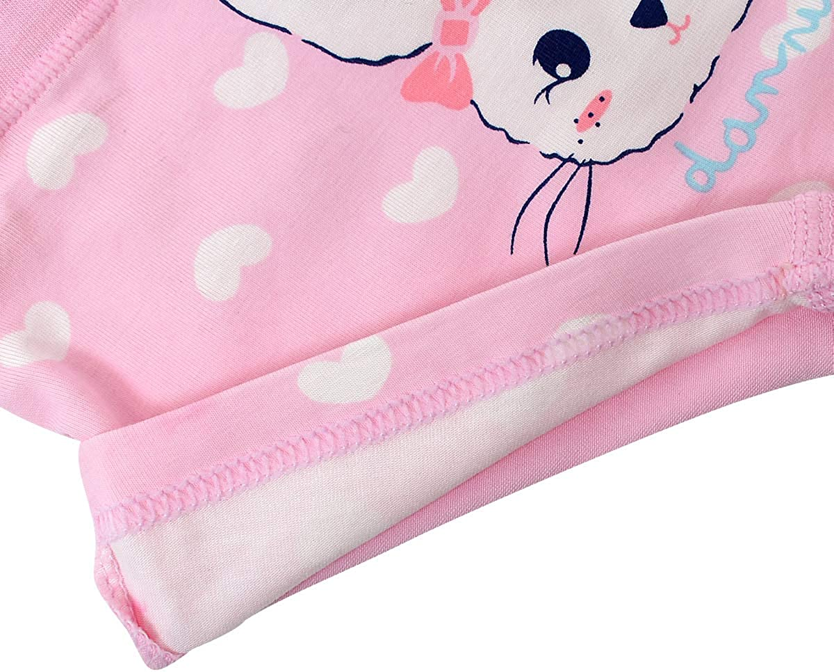 Allmeingeld Girls Bunny Knickers Rabbit Boyshort Cotton Underwear for 1-13 Years