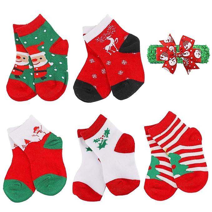 Boys Christmas Socks.Unisex Baby Toddler Kids Christmas Socks Boys Girls Cute Xmas Gift Holiday Socks 5 Pairs