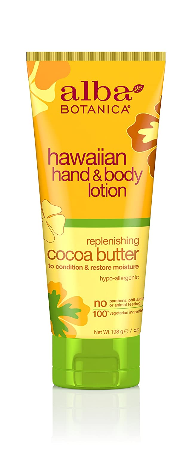 Alba Botanica Hawaiian, Cocoa Butter Hand & Body Lotion, 7 Ounce (Pack of 2)