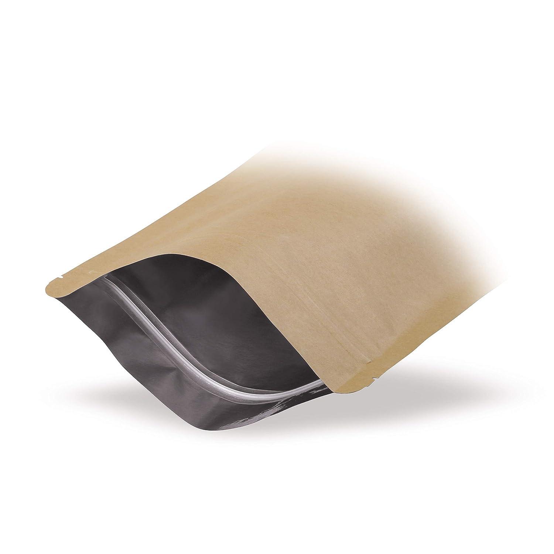 Elke Plastic Standbodenbeutel Kraftpapier 85x140 100 St/ück