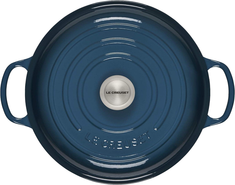 Cerise Le Creuset Enamled Braiser Signature Cast Iron Shallow Casserole 30cm 3.5 Qt