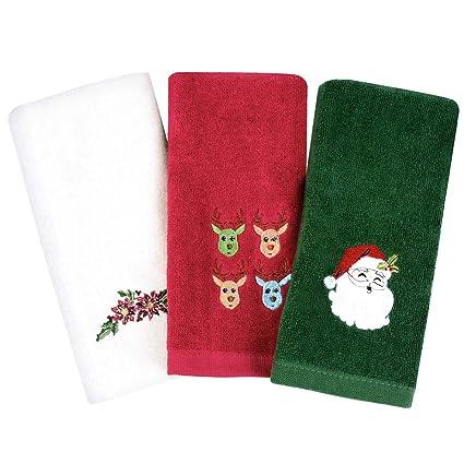 Armyte Toallas de mano de Navidad, 100% algodón puro, toallas de baño de