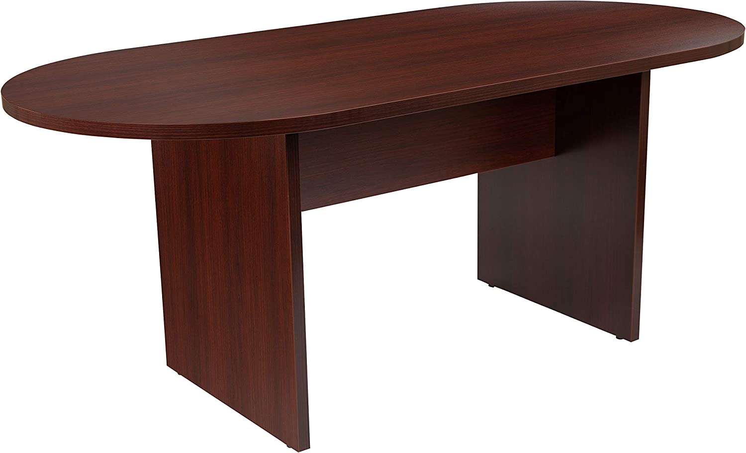 Flash Furniture 6 Foot (72 inch) Oval Conference Table in Mahogany