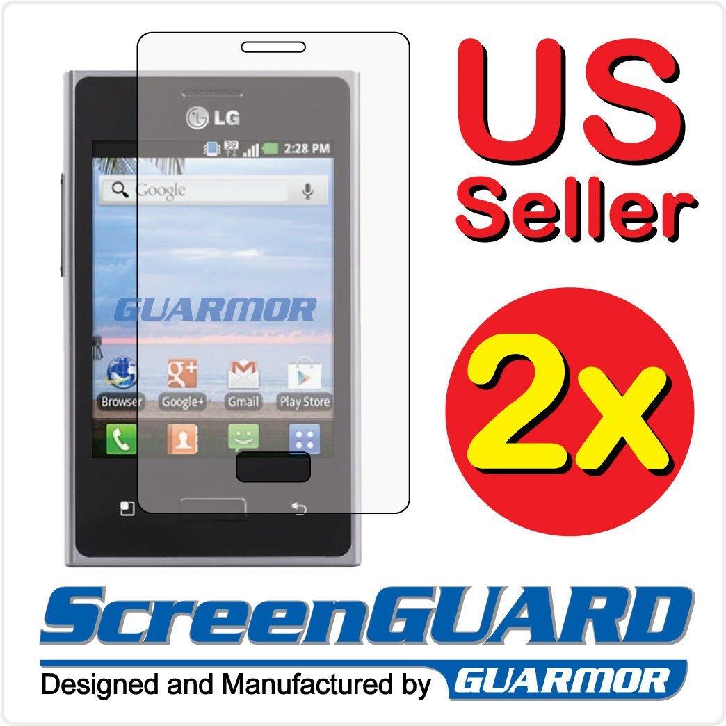 Fyl 2 x LG Optimus Logic l35gアンチグレアLCD Screen Protector Guard Shield Cover Film   B01GAVHI1Q