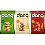Dang Sticky-Rice Chips 3 Flavor Variety Bundle, (1) Each: Coconut Crunch, Original, and Sriracha Spice, 3.5 Ounces