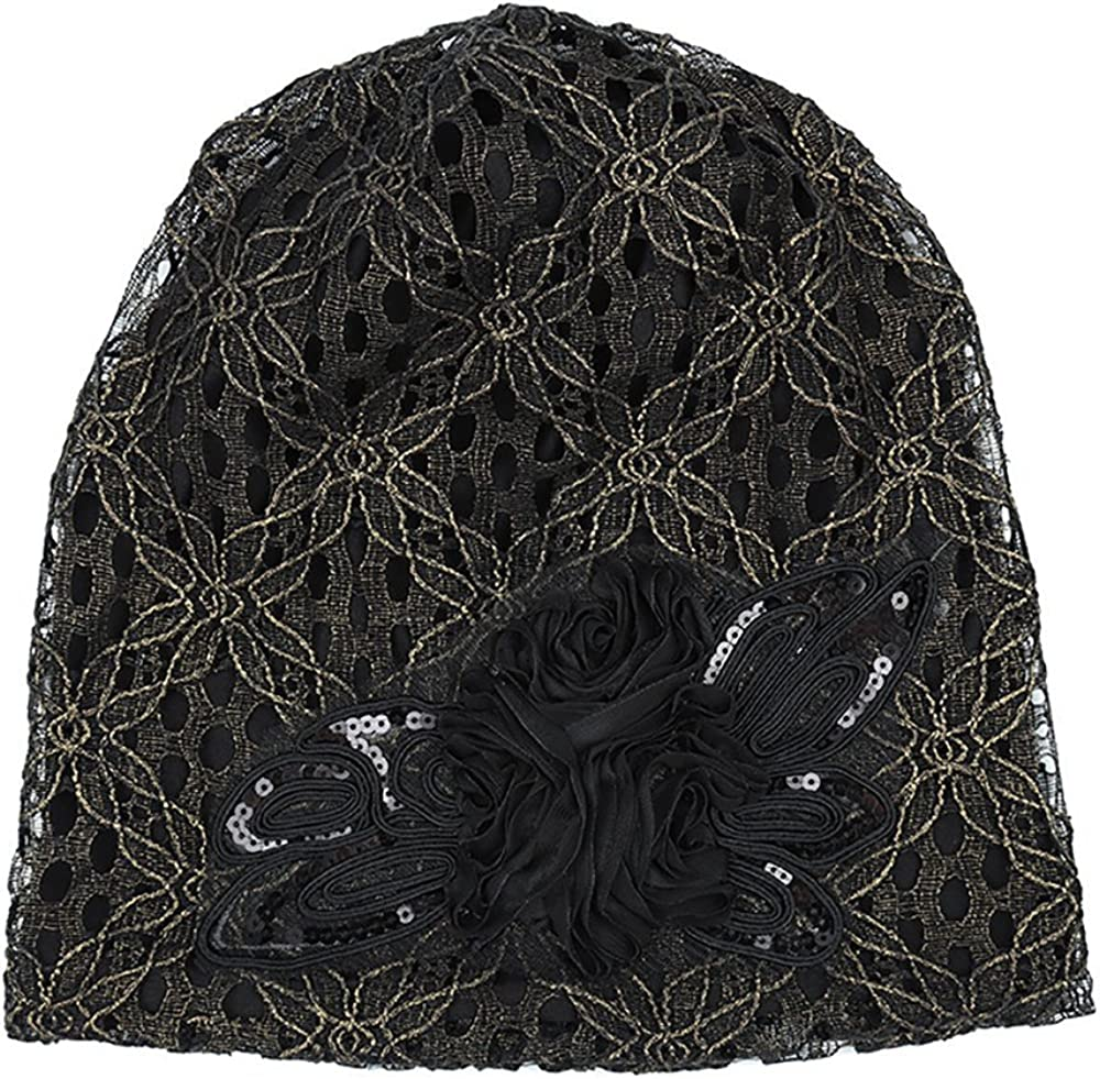Lace Flowers Fashion Hat Joycentre Womens Lace Chemo Hats for Cancer Patients