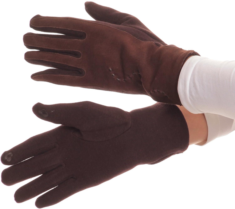 Sakkas Lidy pelle ricamata confortevoli neve calda touch screen Finger Gloves