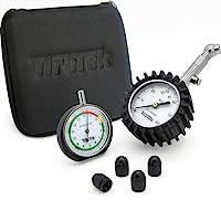 Automotive Tyre Pressure Gauge Gift Set - Includes Car Tyre Pressure Gauge, Tread Depth Gauge and Valve Caps - Best Car Accessories Pack For Tyre Maintenance