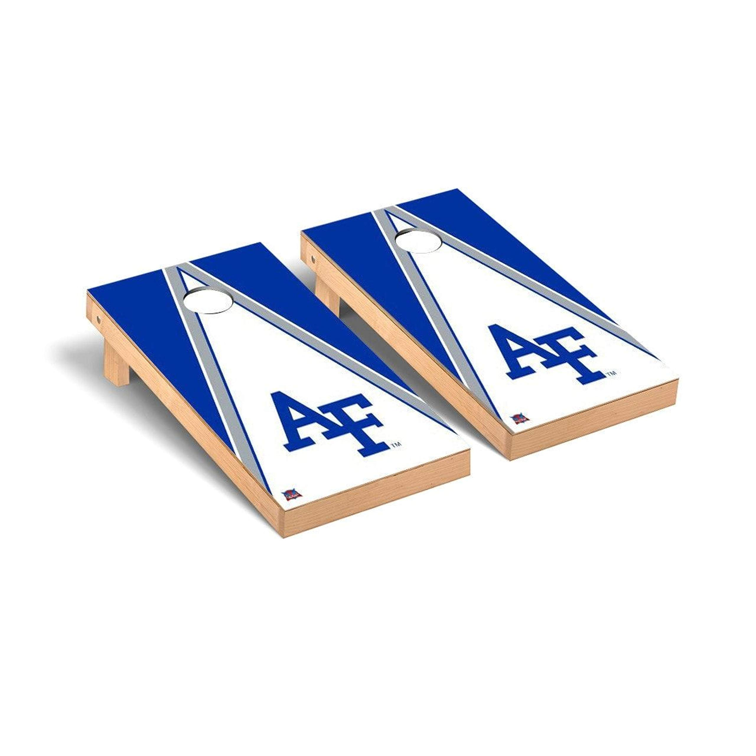 Victory Tailgate Regulation Collegiate NCAA Triangle Series Cornhole Board Set - 2 Boards, 8 Bags - Air Force Academy Falcons