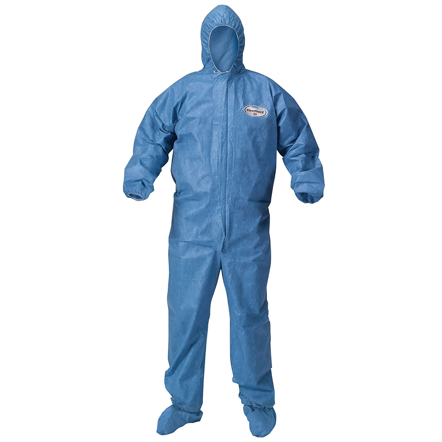 Amazon.com: Kleenguard Chemical Resistant Suit, A60 Bloodborne Pathogen &  Chemical Splash Protection Coveralls (45096), with Hood, Size 3X Extra  Large (3XL) ...