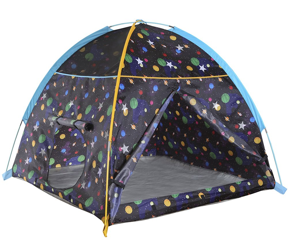 Pacific Play Tents 41200 Kids Galaxy Dome Tent w/Glow in the Dark Stars - 48'' x 48'' x 42''
