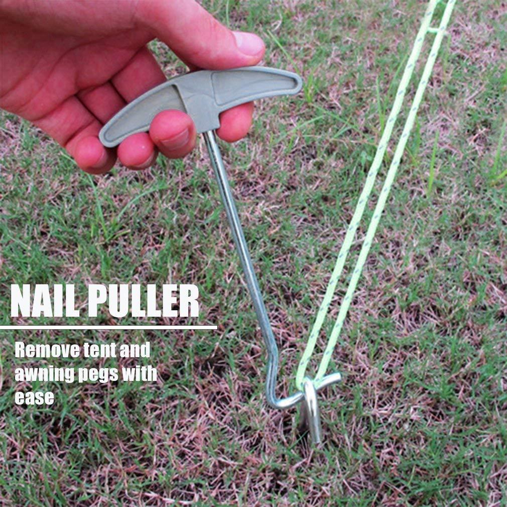 Manalada/® Tragbare Tent Peg Remover Zelte Nageleisen Stake Extractor Stakes Haken