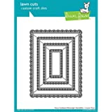Lawn Fawn Lawn Cuts Custom Craft Die LF1322 Fancy Scalloped Rectangle Stackables