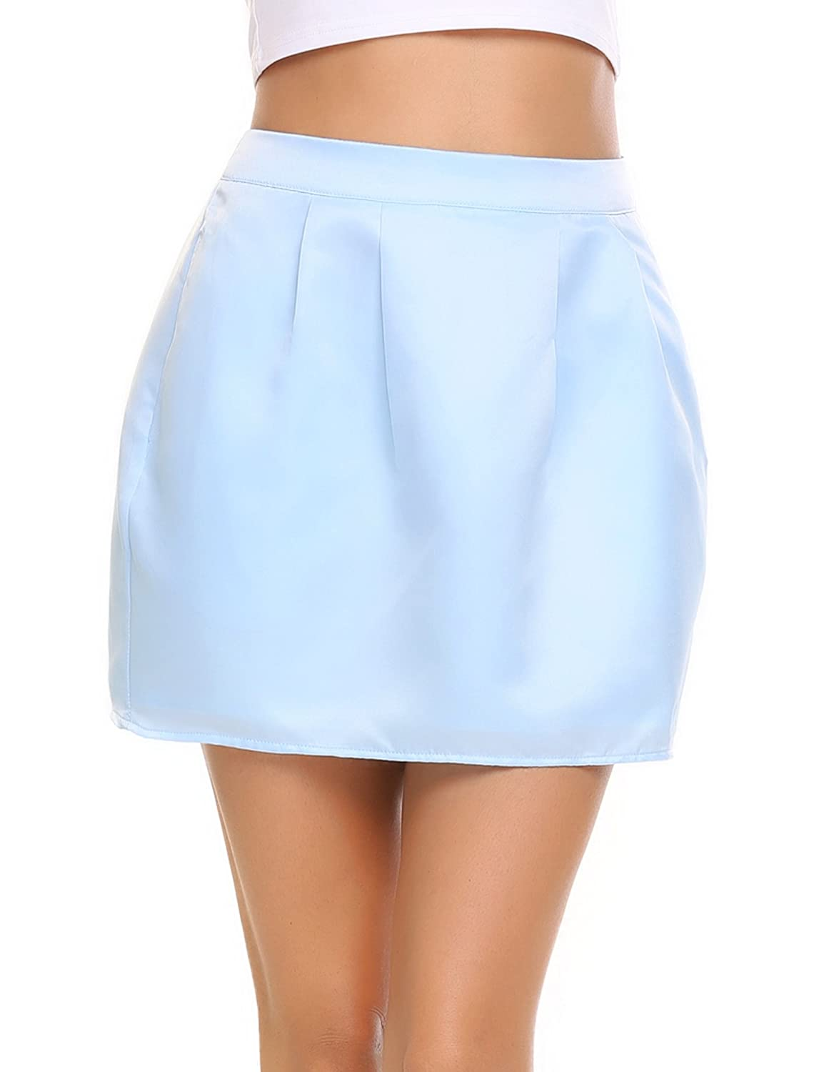 Zeagoo Women's Cute A-Line Mini Flared Skirt With Pocket and Lining