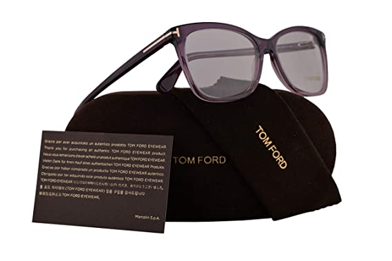 a42c56c5f1ea Amazon.com  Tom Ford FT5514 Eyeglasses 54-15-140 Violet w Demo Clear ...