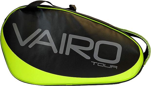 VAIRO Paletero de pádel Tour LTD (Negro - Amarillo Flúor): Amazon.es: Deportes y aire libre