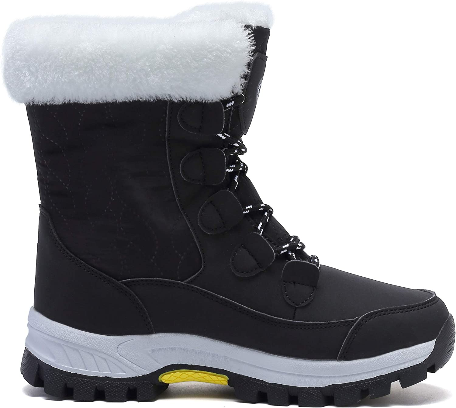 Girls Boys Winter Ankle Snow Boots Walking Hiking Plush Lined Warm Outdoor Shoes