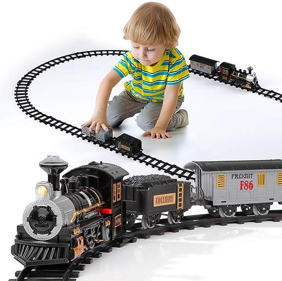 Circuit De Train En Bois Locomotive Electrique Jouet De Train Magn/étique /Électrique Pour Enfant Compatible Avec La Piste En Bois De Thomas BRIO Pour Le Cadeau Danniversaire Enfant Wonderfully
