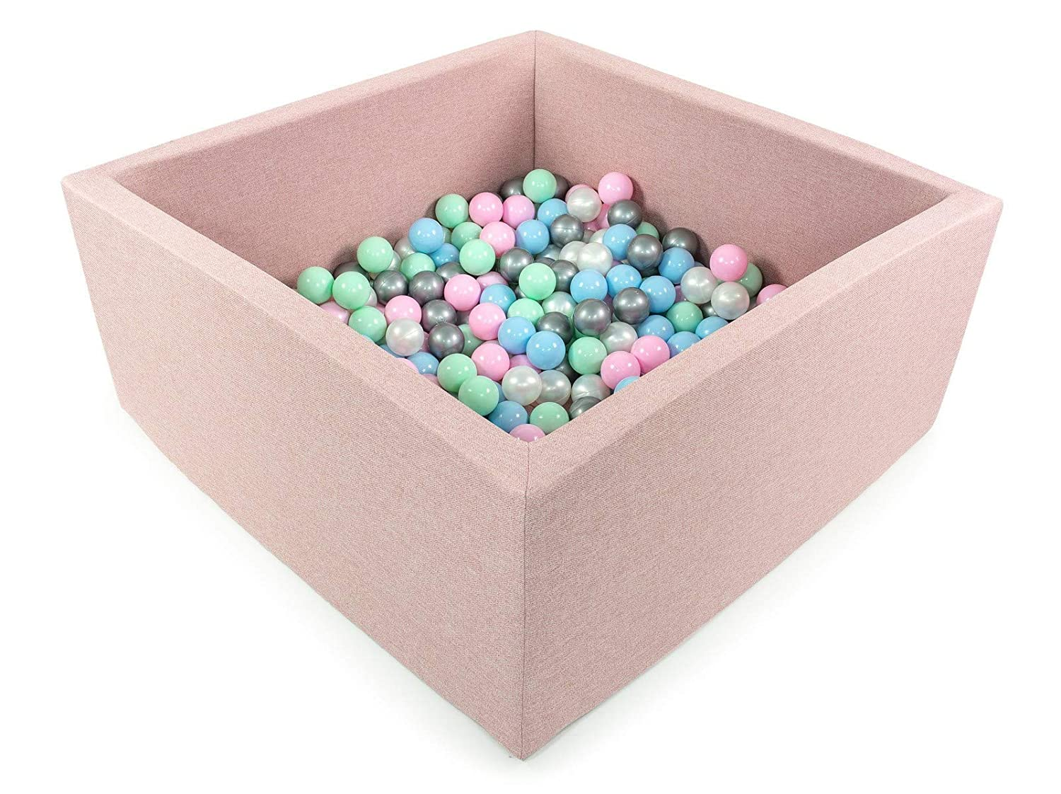 Tweepsy Soft Baby Kids Toddler Play Ball Square Pool Pit Toys 250 Balls 90x90x40cm Handmade EU - BKWZ1
