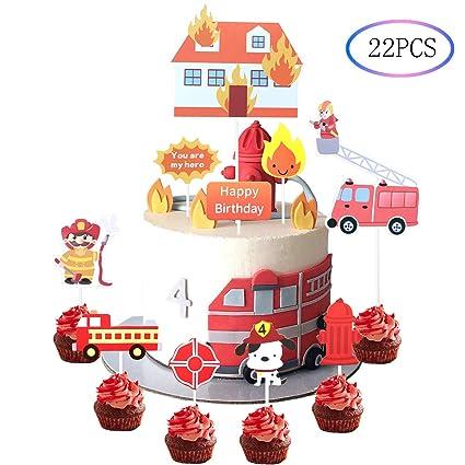 Amazon.com: 22 decoraciones para cupcakes temáticas de ...