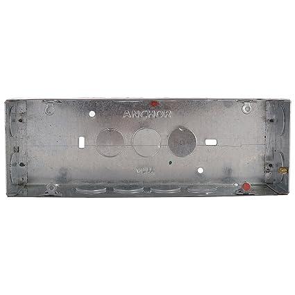 Anchor 30453 Metal GI Box HZ Roma 8 Module, Silver