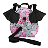 Amazon Price History for:Hipiwe Baby Toddler Walking Safety Backpack with Leash Little Kid Boys Girls Anti-lost Travel Bag Harness Reins Cute Mini Bat Backpacks for Baby 1-3 Years Old (Pink)