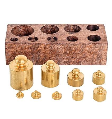 Pesos adicionales balanza de farmacia de balanza para oro estilo antiguo (c)