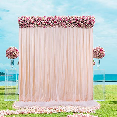 Amazon Com Champagne Backdrop Curtain For Baby Shower Wedding