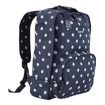 Kangol Wax Spot Backpack Navy White Rucksack Shoulder Carryall Bag H  40cm   W 95a2bc58c381f