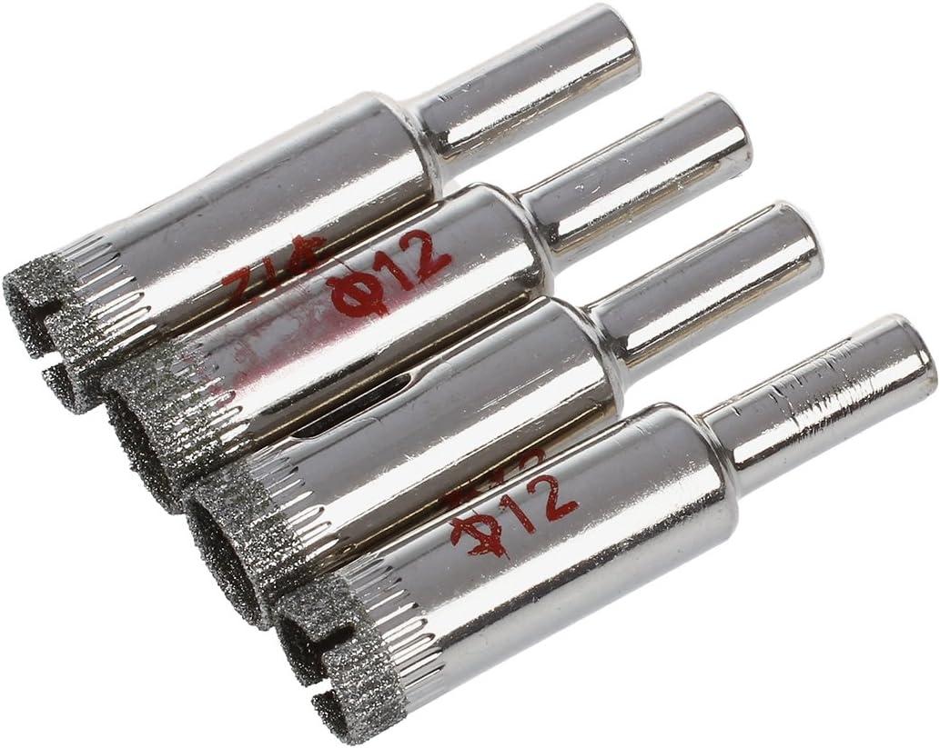 4 x 12 mm ACAMPTAR Broca de diamante para cortar cristal