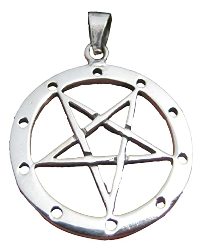 Amazon 925 sterling silver wicca inverted pentagram pendant 925 sterling silver wicca inverted pentagram pendant necklace a22 aloadofball