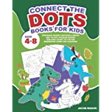 Connect The Dots Books For Kids Ages 4-8: Dinosaur Shark Crocodile Snake Dot to Dot Puzzles Books For Kids Count To 100…
