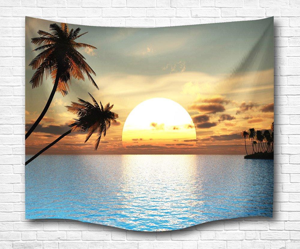 Amazon.com: Banana Leaf Tapestry Wall Hanging by Goodbath, Tropical ...