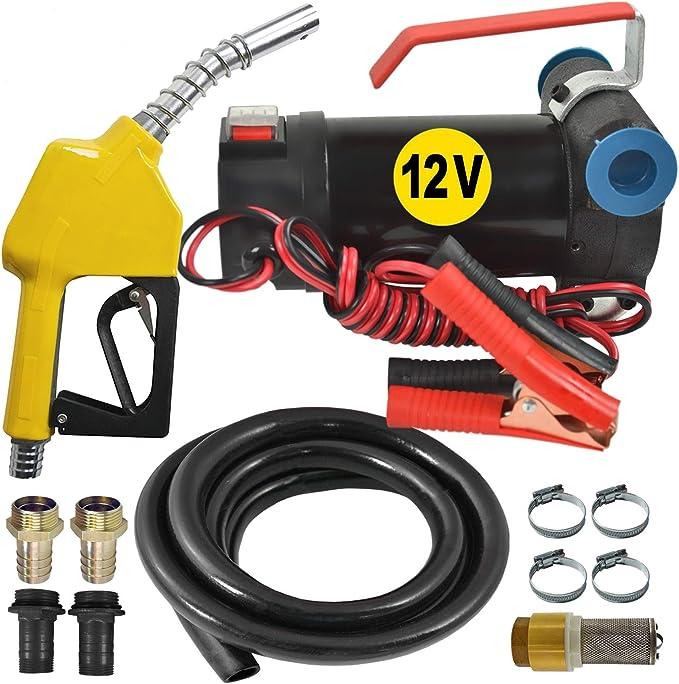 Zapfpistole UP 12V Elektrisch Heizölpumpe Dieselpumpe Fasspumpe Ölpumpe 40L//min