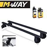 M-WAY Menabo Aero Fit Lockable Roof Rack Space Bars Rails for MINI Cooper 3 Door 07>13