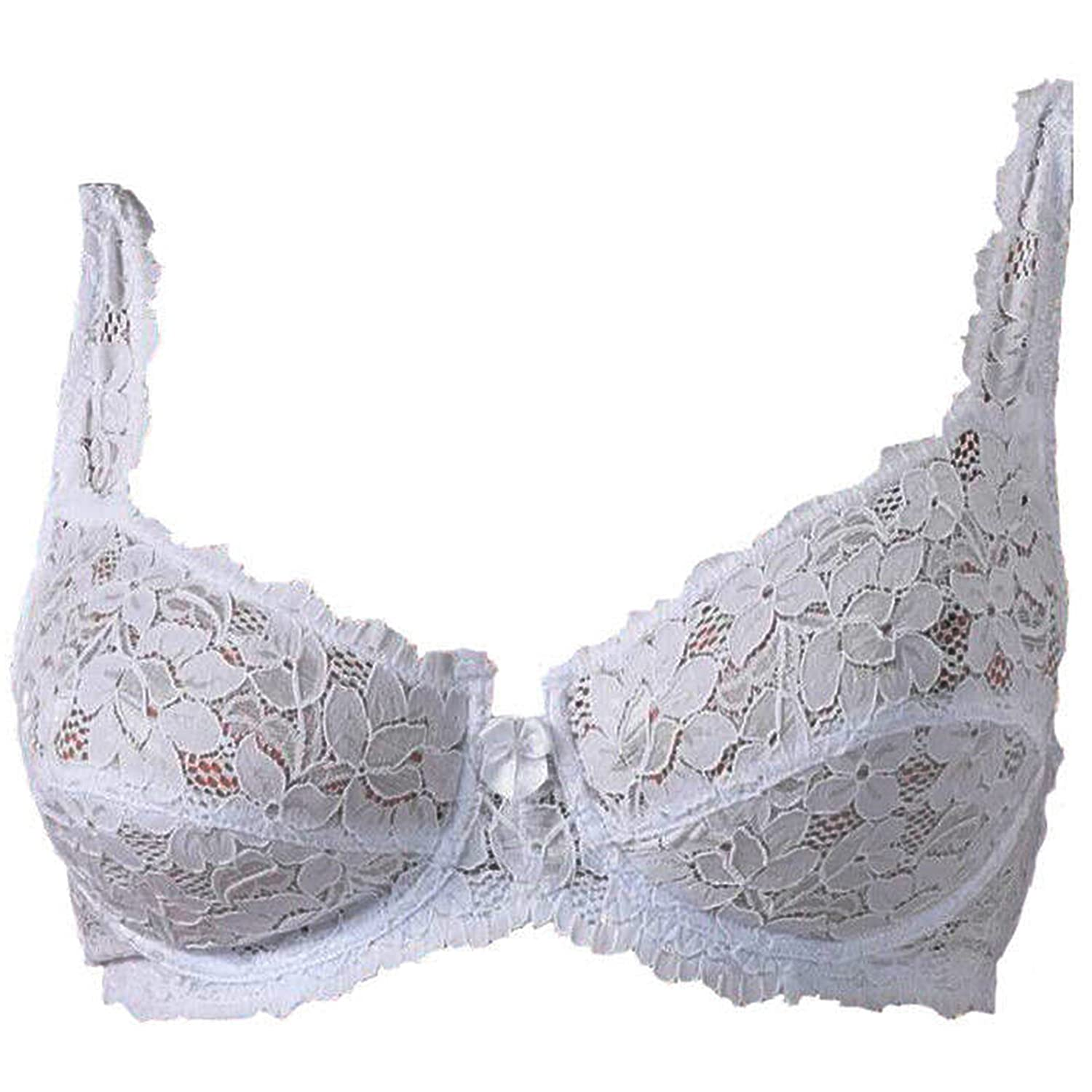 Get The Trend Ladies Underwired Designer Non Padded Bra Lace Bra by Marlon Black Or White Sizes 34-44 B-DD Prime