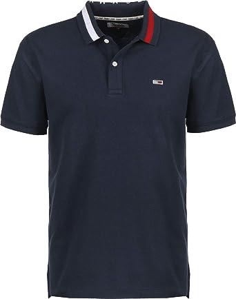 Tommy Hilfiger TJM Flag Neck Polo Camisa para Hombre: Amazon.es: Ropa y accesorios
