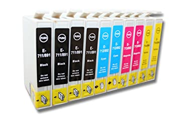 Verrassend 10 x Cartuchos de Tinta para Impresora, compatibles con Epson IV-23