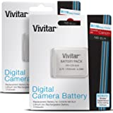 (2 Pack) Vivitar NB-6L Ultra High Capacity 1150mAH Li-ion Batteries for CANON PowerShot SX510 HS, SX500 IS, SX280 HS, SX260 HS, SD1300 IS, SD1200 IS, SD980, SD770, SD1300, D20, D10, IXUS 85 IS, IXUS 95 IS, IXUS 200 IS (Canon NB-6L Replacement)