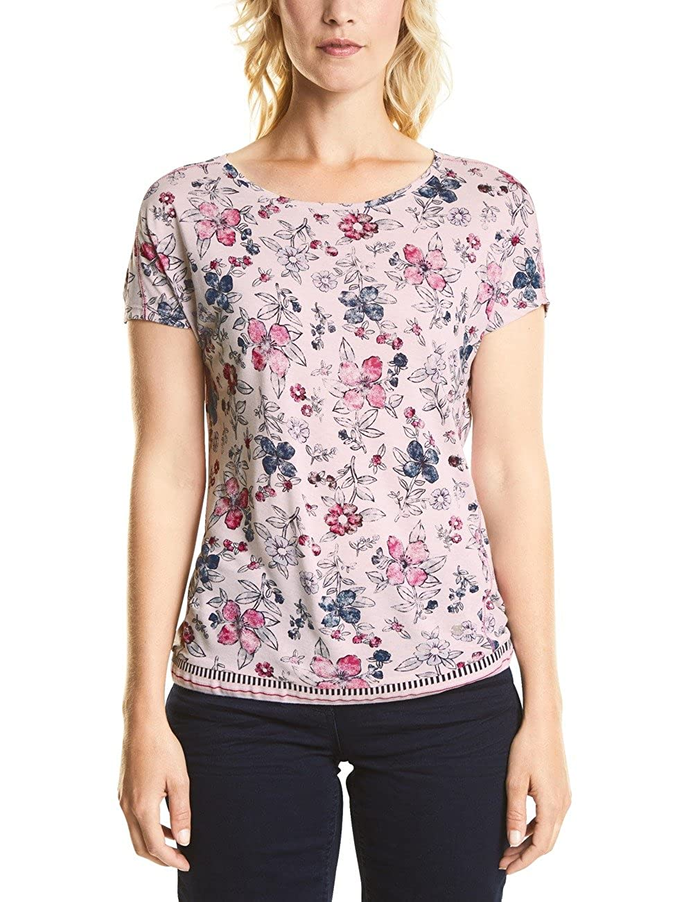 new release outlet store thoughts on Cecil Women's 312299 Joline T-Shirt, Multicolour (Blossom ...