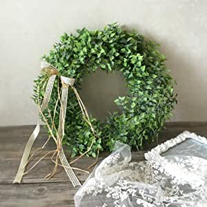 Lanlan None Artificial Leaf Bow Door Hanging Wall Window Wreath Holiday Festival Wedding Decor, Style A, A