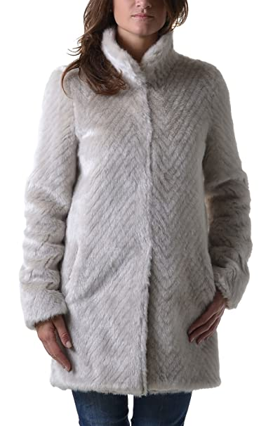 GUESS maela Pelo sintético Abrigo marrón Claro Small: Amazon.es: Ropa y accesorios