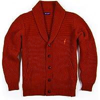 L.Bolt Lambswool Basket Weave Cardigan Sudain Brown Jersey