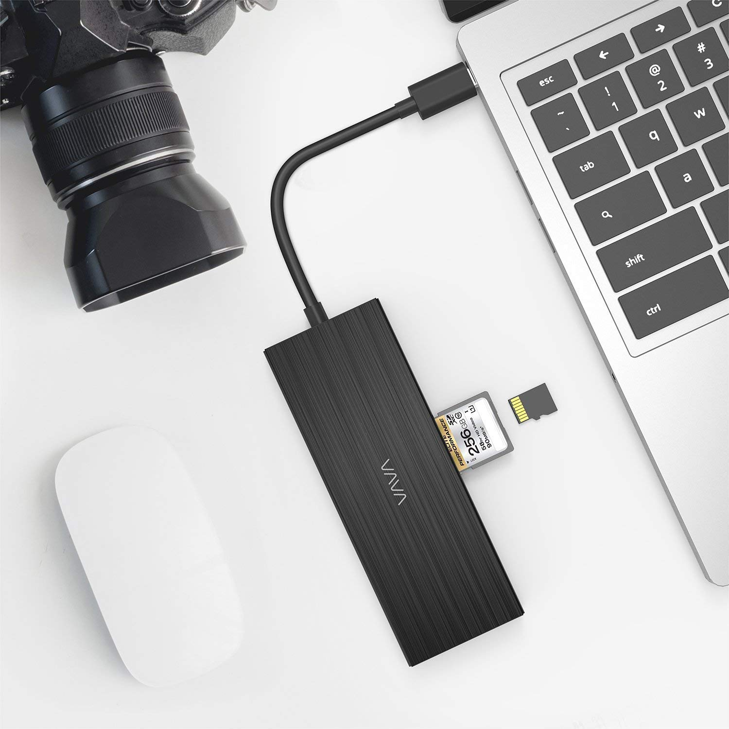 SD Card Reader 3 USB Ports for MacBook,2018// Pro and Type C Windows Laptops VAVA USB C Hub 8-in-1 Adapter with PD Power Delivery 1Gbps Ethernet Port 4K USB C to HDMI